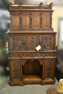 J03-116 Cabinet with Neptune Carvings - Front